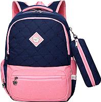 Школьный рюкзак Sun Eight SE-2640 (темно-синий/розовый) -