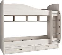Двухъярусная кровать Астрид Мебель Принцесса / ЦРК.ПРН.10 (анкор белый) -