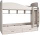 Двухъярусная кровать детская Астрид Мебель Принцесса / ЦРК.ПРН.10 (анкор белый) -