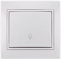 Кнопка звонка Lezard Mira 701-0202-103 (белый) -