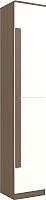 Шкаф-пенал Заречье ЛК6 (орех вирджиния/белый глянец) -