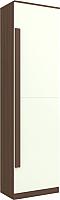 Шкаф Заречье ЛК9 (орех вирджиния/белый глянец) -