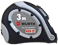 Рулетка Wurth Red Line 0714699923 (8м) -