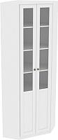 Шкаф с витриной Заречье Луиза ЛЗ-4 (дуб седан) -