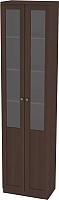 Шкаф с витриной Заречье Луиза ЛЗ-2 (орех вирджиния) -