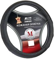 Оплетка на руль AVS GL-940M-B / A78677S (M, черный) -