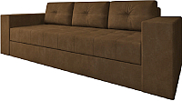 Диван Настоящая мебель Константин вельвет (коричневый) -