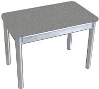 Банкетка Гальваник Пигги (эмаль серебро/кожзам стандарт 291 серый) -