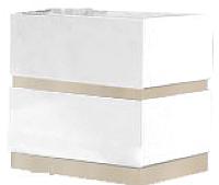 Тумба Мебель-КМК Хилтон 2Я 0651.2 (дуб санома/белый глянец) -