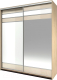 Шкаф Мебель-КМК Хилтон 0651.16 (дуб санома/белый глянец) -