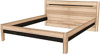 Каркас кровати Заречье Афина А3 160x200 (дуб крафт/табачный галифакс) -