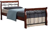Односпальная кровать Signal Venecja 1OS. 90x200 (античная черешня) -