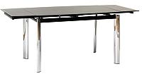 Обеденный стол Signal GD019 (черный, 70x100) -