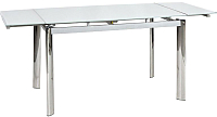 Обеденный стол Signal GD020 80x120 (белый) -