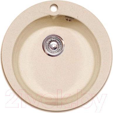 Купить Мойка кухонная GranFest, Rondo GF-R480 (бежевый), Россия, искусственный мрамор