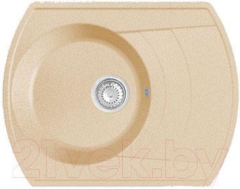 Купить Мойка кухонная GranFest, Rondo GF-R650L (бежевый), Россия, искусственный мрамор