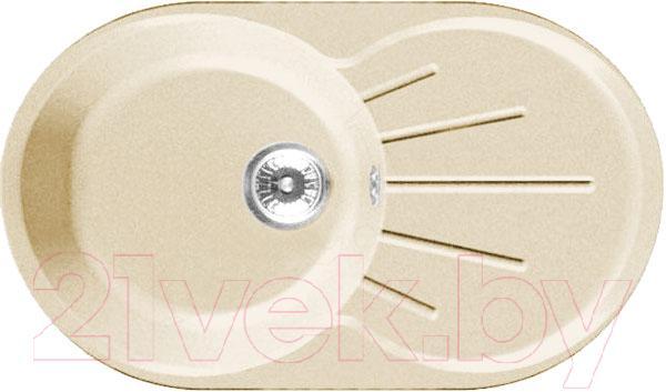Купить Мойка кухонная GranFest, Rondo GF-R750L (бежевый), Россия, искусственный мрамор