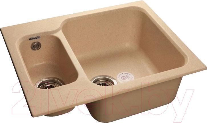 Купить Мойка кухонная GranFest, Standart GF-S615K (бежевый), Россия, искусственный мрамор