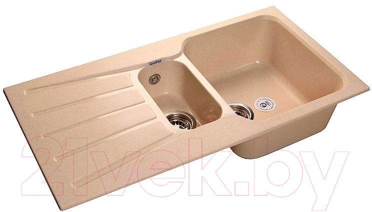Купить Мойка кухонная GranFest, Standart GF-S940KL (бежевый), Россия, искусственный мрамор