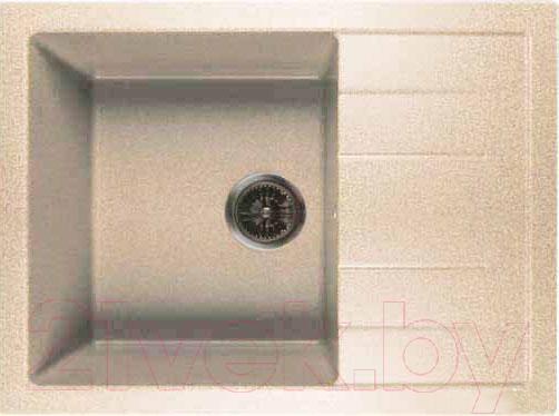 Купить Мойка кухонная GranFest, Quadro GF-Q650L (бежевый), Россия, искусственный мрамор