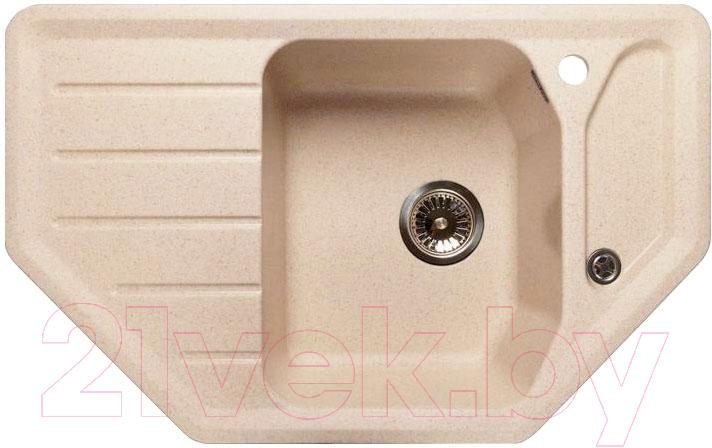 Купить Мойка кухонная GranFest, Corner GF-C800E (бежевый), Россия, искусственный мрамор