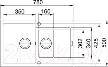 Мойка кухонная Franke MRG 651-78 (114.0198.272) - схема