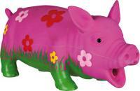 Игрушка для животных Trixie Свинка с цветами 35185 (со звуком) -
