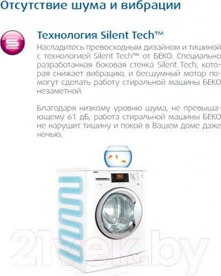 Стиральная машина Beko WKY 71031 PTLYSB2 - технология Silent Tech