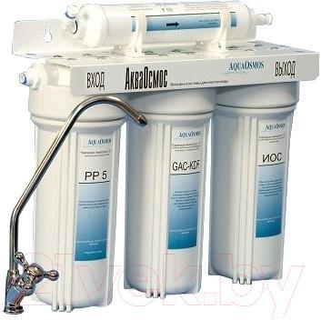 Купить Фильтр питьевой воды АкваОсмос, АО 4 М PP 5 + GAC-KDF + ИОС + Т 33, Беларусь