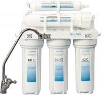 Фильтр питьевой воды АкваОсмос АО 5 УФ PP 5 + GAC-KDF + ИОС + УФ + Т 33 -