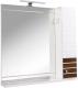 Шкаф с зеркалом для ванной Аква Родос Империал 85 R / АР0002070 (венге) -