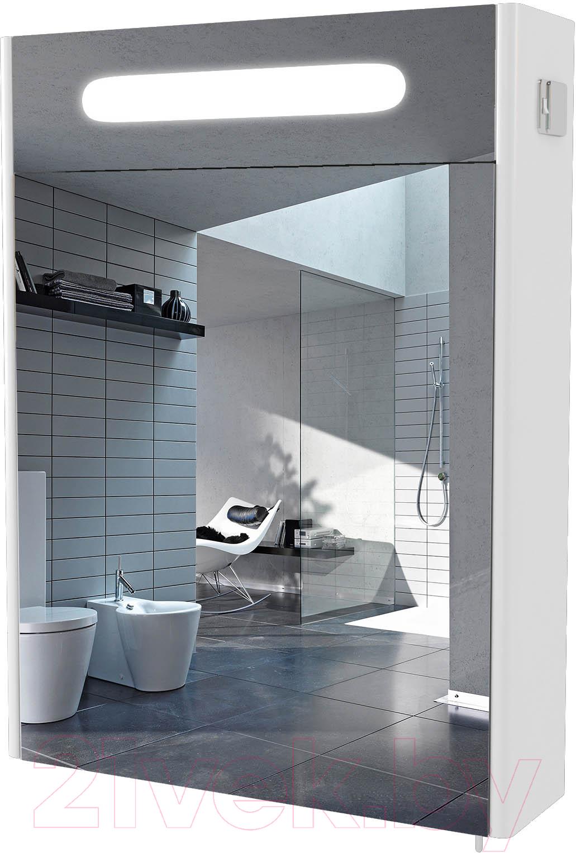 Купить Шкаф с зеркалом для ванной Аква Родос, Париж 65 (с подсветкой), Украина