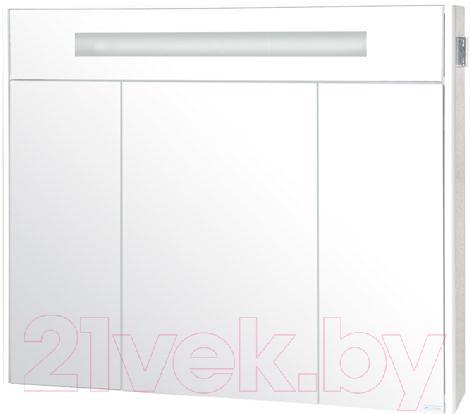 Купить Шкаф с зеркалом для ванной Аква Родос, Париж 100 с подсветкой / SC0000147, Украина
