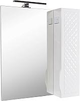 Шкаф с зеркалом для ванной Аква Родос Родорс 70 R / АР0002078 (с подсветкой) -