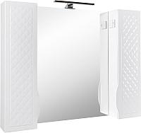 Шкаф с зеркалом для ванной Аква Родос Родорс 100 / АР0002091 (с подсветкой) -