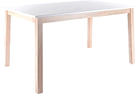 Обеденный стол Signal Narvik (дуб беленый/белый) -