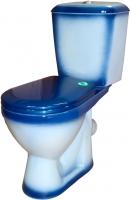 Унитаз напольный Rosa Лира (синий) -