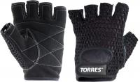 Перчатки для пауэрлифтинга Torres PL6045S (S, черный) -