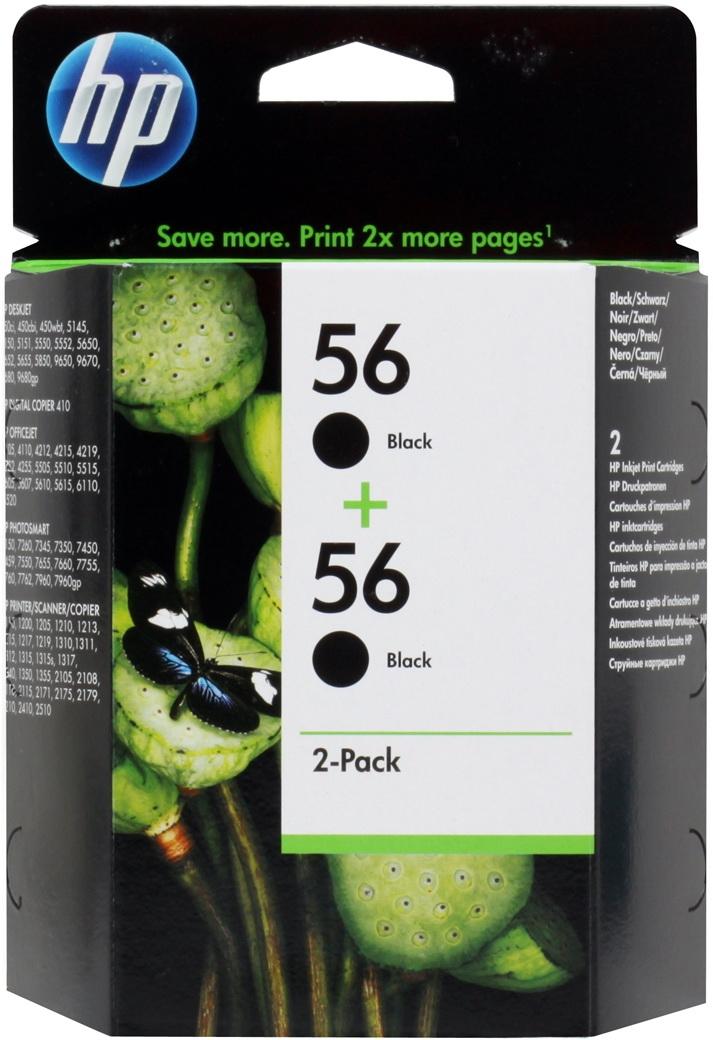 Купить Комплект картриджей HP, 56 (C9502AE), Китай, черный