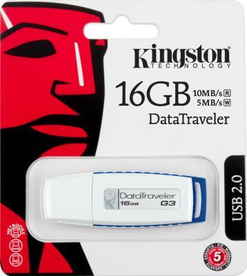 Usb flash накопитель Kingston DataTraveler G3 16 Gb (DTIG3/16GB) - коробка