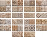 Декоративная плитка Monopole Antique Marron (200x100) -