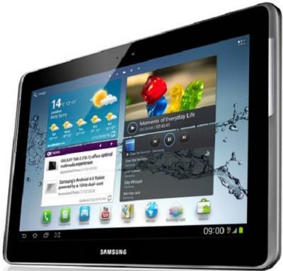 Планшет Samsung Galaxy Tab 2 10.1 16GB 3G Titanium Silver (GT-P5100) - Вид сбоку