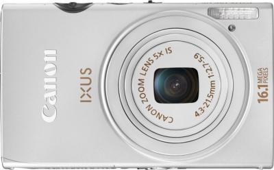 Компактный фотоаппарат Canon IXUS 125 HS Silver - вид спереди