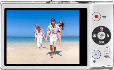 Компактный фотоаппарат Canon IXUS 125 HS Silver - вид сзади