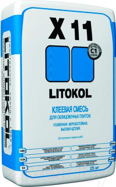 Купить Клей для плитки Litokol, X11 (25кг), Россия
