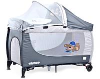 Кровать-манеж Caretero Grande Gray -
