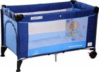 Кровать-манеж Caretero Simplo (Blue) -