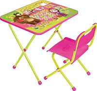 Комплект мебели с детским столом Ника КП/1 Маша и Медведь: Азбука 1 -