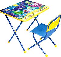 Комплект мебели с детским столом Ника КП/8 Математика в космосе -