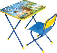 Комплект мебели с детским столом Ника КП/7 Хочу все знать -
